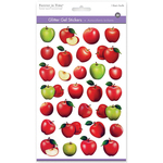 Apples - 3D Glitter Gel Stickers