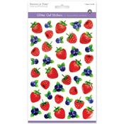 Berries - 3D Glitter Gel Stickers