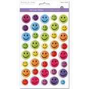 Happy Face - 3D Gel Foil Stickers