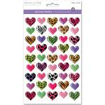 Fashion Hearts - 3D Gel Foil Stickers
