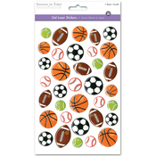 Sports Balls - 3D Gel Foil Stickers
