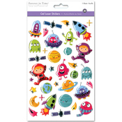 Outer Space - 3D Gel Foil Stickers