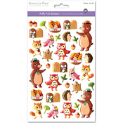 Woodland Friends - 3D Puffy Foil Stickers