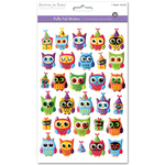 Owl Jubilee - 3D PUffy Foil Stickers