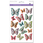 Butterfly Blast - 3D Foil Pop-Up Stickers