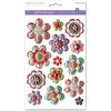 Pretty Floral - 3D Foil Pop-Up Stickers