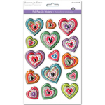 Heart Medley - 3D Foil Pop-Up Stickers
