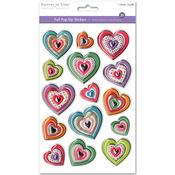 Heart Medley - 3D Foil Pop-Up Stickers