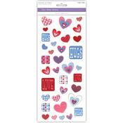 Hugs & Hearts - Everyday Glitter Theme Stickers