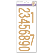 Numbers Kraft - Letters & Numbers Medley Stickers
