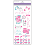 Baby Girl - Family & Friends Clear Stickers