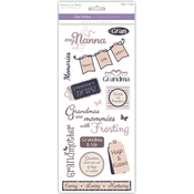 Grandmother - Family & Friends Clear Stickers