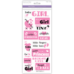 It's A Girl - Family & Friends Clear Stickers