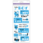 It's A Boy - Family & Friends Clear Stickers