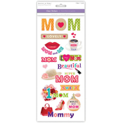Super Mom - Family & Friends Clear Stickers