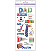 Super Dad - Family & Friends Clear Stickers