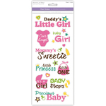 Precious Baby Girl - Family & Friends Clear Stickers