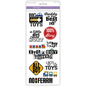 Boy Toys - Family & Friends Clear Stickers