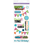 Birthday - Classic Theme Clear Stickers