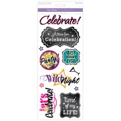 Celebrate! - Classic Theme Clear Stickers