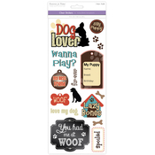 Dog Lover - Classic Theme Clear Stickers