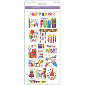 Birthday Fun - Classic Theme Clear Stickers