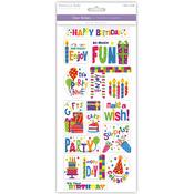 Birthday Fun - Classic Theme Clear Stickers