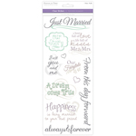 Wedding 1 - Love & Marriage Clear Stickers