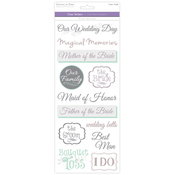 Wedding 2 - Love & Marriage Clear Stickers