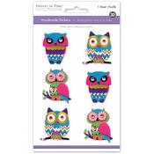 Boho Owl - 3D Big Icons Stickers