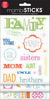 Family - You & Me - Glitter Stickers Value Pack