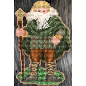 "3""X4.75"" 14 Count - Ireland Santa Celtic Santas Counted Cross Stitch Kit"