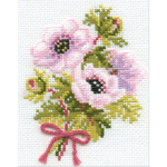"5""X6.25"" 16 Count - Anemones Counted Cross Stitch Kit"
