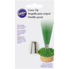 Grass - Decorating Tip WILTON-Decorating Tip. These icing tips simply screw onto Wilton Decorating Icing Pouches or Tubes and make it easy for you to create great looking designs on your cakes in minutes. This package contains one decorating tip made of nickel-plated brass. Dishwasher safe. Comes in a variety of styles. Each sold separately. Imported.