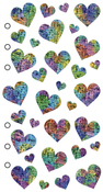 Pastel Hearts - Sticko Stickers