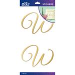 W - Sticko Elegant Gold Foil Monogram Stickers