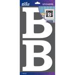 B - Sticko Basic White Monogram Stickers