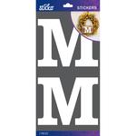 M - Sticko Basic White Monogram Stickers