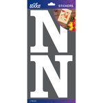 N - Sticko Basic White Monogram Stickers