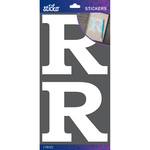 R - Sticko Basic White Monogram Stickers