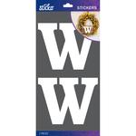 W - Sticko Basic White Monogram Stickers