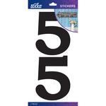 5 - Sticko Basic Black Number Stickers