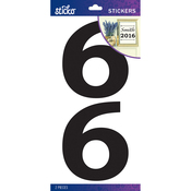 6 - Sticko Basic Black Number Stickers