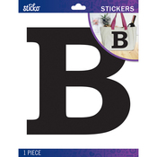 B - Sticko Jumbo Basic Black Monogram Stickers