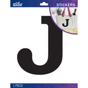 J - Sticko Jumbo Basic Black Monogram Stickers