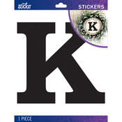 K - Sticko Jumbo Basic Black Monogram Stickers