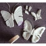 Butterflies, 7 Shapes & A Base - Prima Marketing Relics & Artifacts Archival Cast