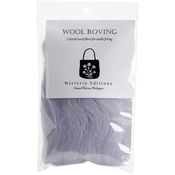 "Soft Grey - Wool Roving 12"" .22oz"