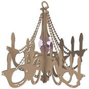 "Traditional 14.9""X13"" - Prima Marketing DIY Wooden Chandelier"