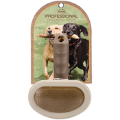 Oval Curve Needle Brown - Nandog Pet Brush